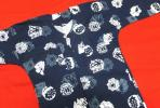 鯉口シャツ★紺地に白のまとい・纏柄 LLサイズ お祭りなどに