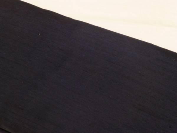 男物★新品正絹★山形県米沢・塩川織物製男紬アンサンブル★濃紺色地です_画像3