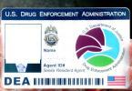 DEA/ 麻薬取締局カスタムIDカード 貴方のお写真とお名前で専門会社が作成