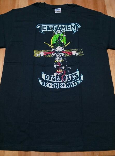 TESTAMENT Tシャツ 黒M disciples /exodus slayer sodom heathen