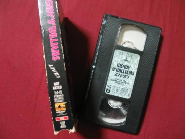 廃盤VHS Wendy O. WilliamsウェンディOウィリアムス(PLASMATICS) Live! Terror Unleashed1985日本未発売80年代パンクビデオ_画像3