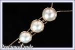 【プレトレ】田崎真珠 マベパール ダイヤ ネックレス 74cm 美品 ブランド