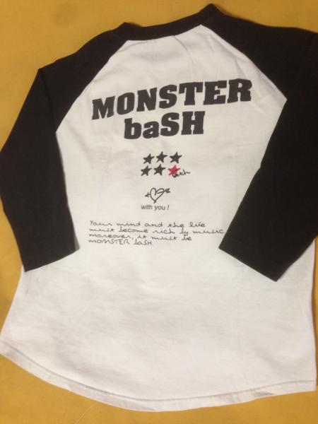 MONSTERbaSH モンスターバッシュ2005ラグラン ライブTシャツ/ACIDモンパチHISTApizzaofdeath夏フェスバンドT