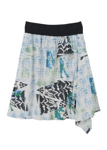 新品◆zuccaドローイングプリント パンツスカート◆2WAY