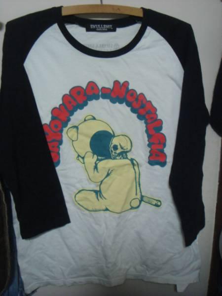 BaseBall Bearベースボール ベアー×スカルシットSKULL SHITラグラン ベースボールTシャツ
