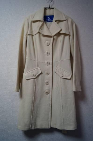 ■超美品■バーバリー BURBERRY BLUELABEL ホワイトコート 40