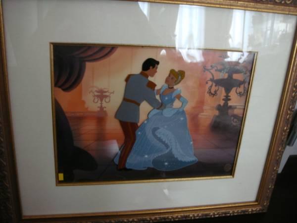 世界限定350枚 シンデレラ セル画 1950年 安価出品! ディズニーグッズの画像