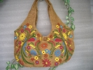アジアン・天然素材・手絵柄・独特な風格・ジュートトートバッグ