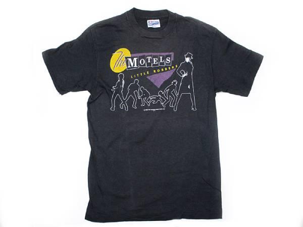 ヴィンテージ古着 80's ロックT MOTELS ブラック M Tシャツ