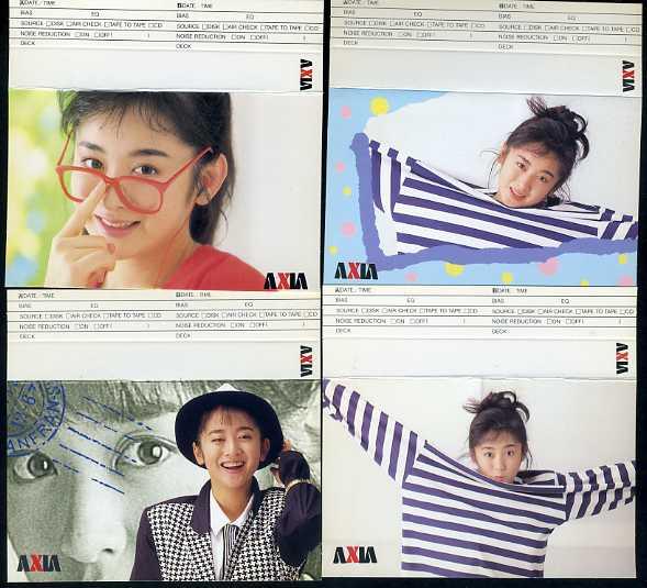 斉藤由貴 カセットテープ用インデックスカード4枚 AXIA