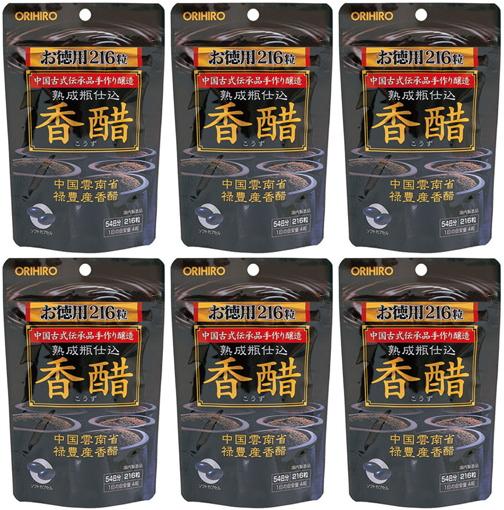 送料無料■香醋カプセル 216粒×6個セット■オリヒロ 香酢_画像1