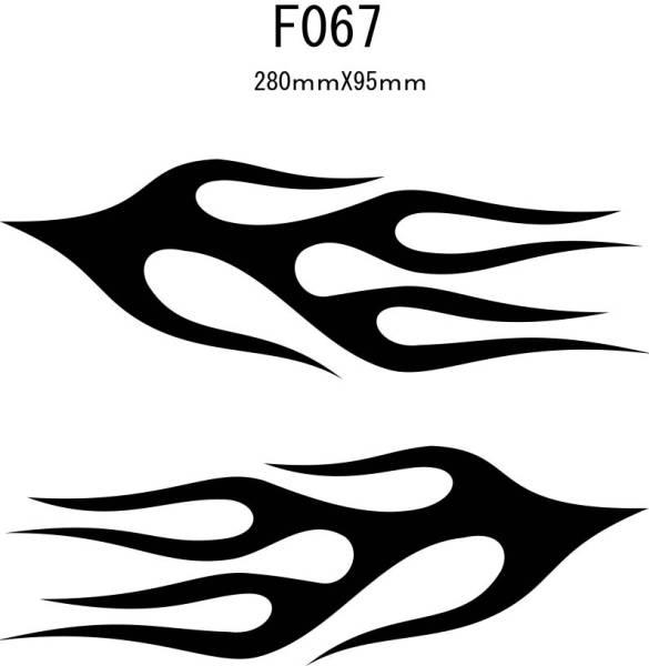 007_Lファイヤーパターン バイナル デカール ステッカーF067