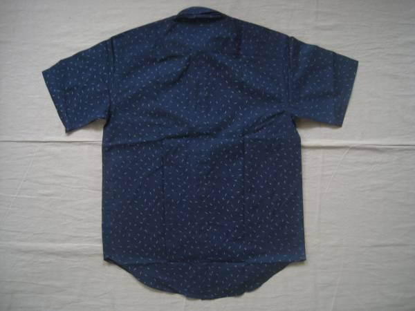 【美品!】 ◆ GOOD STANCE ◆ 総柄プリントシャツ NV L_画像2