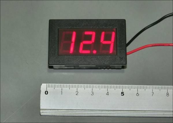 ◆ LEDデジタル電圧計 (パネルメータ) DC3~20V ◆