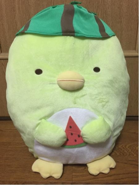 すみっコぐらし☆すいかぬいぐるみXL(ぺんぎん?)☆新品 グッズの画像