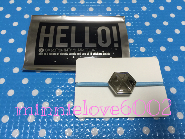EXO★グリパ★Greeting Party Hello★公式 グッズ★ヘアゴム★ブルー 水色_画像1