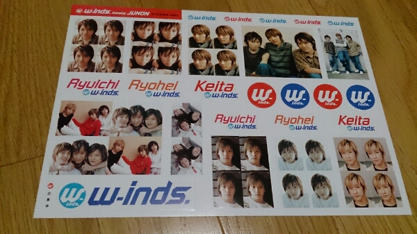 w-inds. 非売品ステッカー2003junon