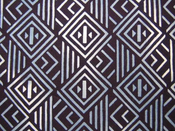 古布 半衿【綿/幾何学模様 藍地】はぎれ つまみ細工吊し飾り市松人形 ハンドメイド手作り長襦袢_画像1