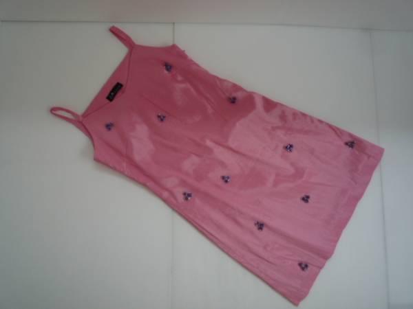 【良品!】 ★ J M COLLECTION ★ ミニ丈ワンピース ピンク 袖なし
