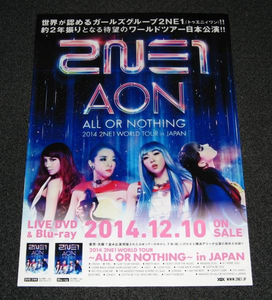 ∠2NE1 [2014 TOUR ALL OR NOTHING~in JAPAN] 告知ポスター