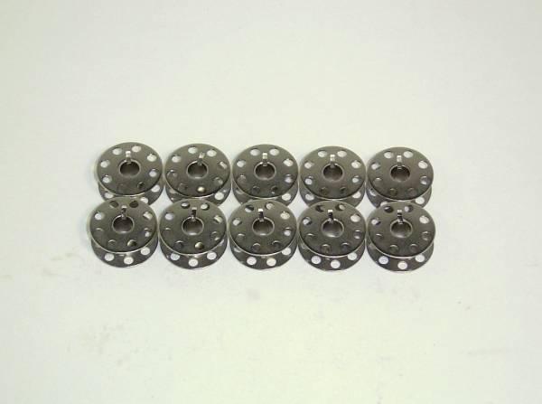 【工業用・職業用ミシン用 穴開きボビン カット有り 10個】_直径:約21mm、厚さ:約9mmです