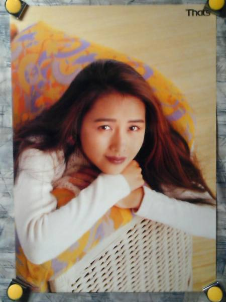 g4【ポスター/B-2】工藤静香/B/カセット時代の販促用非売品