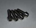 チタンボルトM8X25 テーパーキャップタイプ 4本組 新品