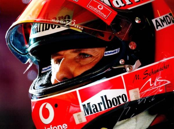ミハエル・シューマッハ Schumacher サインフォト写真ポスター
