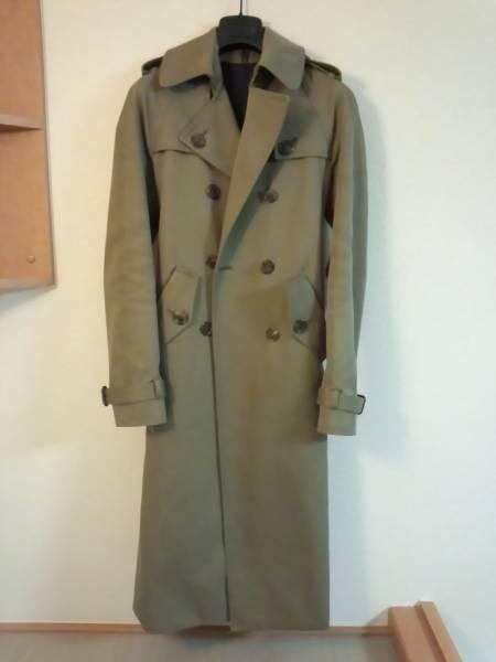 国内正規 極美品 入手困難 ディオールオム Dior Homme ロングコート 38 最小 トレンチコート XXS 男女兼用可 エディ期 セレブ愛用 メンズ_ディオールオム名作!ロングトレンチコート