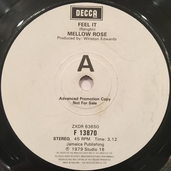 ■Mellow Rose/Feel It■LOVERS ROCK!レアプロモ!