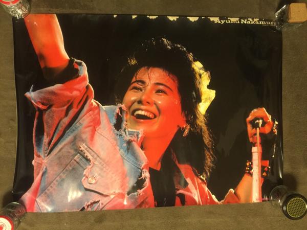 希少☆中村あゆみ★当時物ポスター★73×51サイズ☆ロック