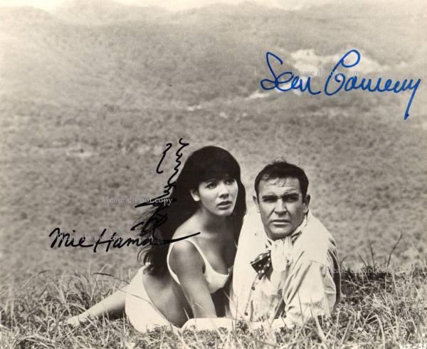 1967年007は二度死ぬ ショーン・コネリー 浜 美枝 サインフォト