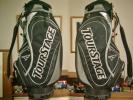 希少!未使用 ツアーステージ 合繊素材 黒グレー ゴルフバッグ