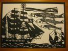 切り絵 海賊船に鯉のぼり