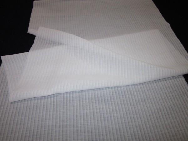 【京わぎれ】東レ 爽竹 縦絽 夏物長襦袢はぎれ 白 替え袖用2.2m④_画像1