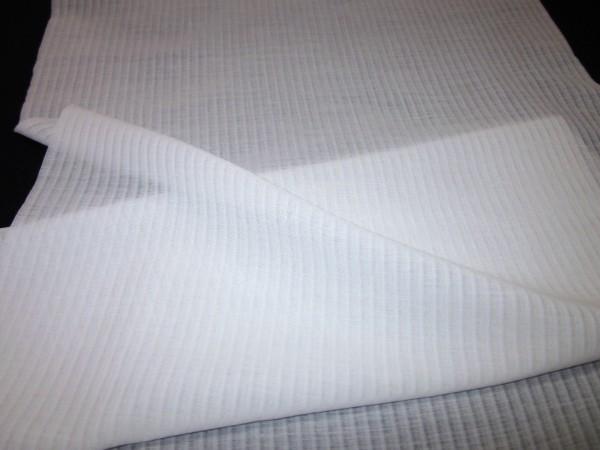 【京わぎれ】東レ 爽竹 縦絽 夏物長襦袢はぎれ 白 替え袖用2.2m④_画像2