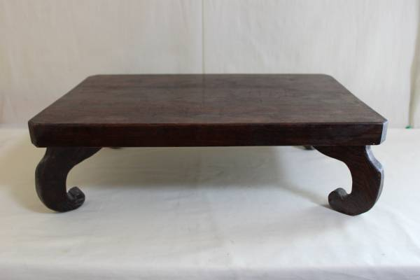 ◆古い無垢材 平卓・花台・香炉台 盆栽盆石等_画像1