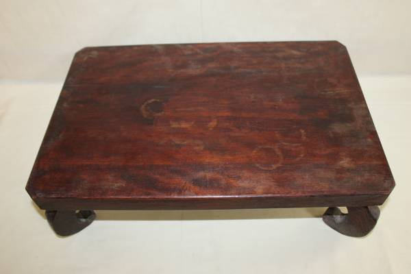 ◆古い無垢材 平卓・花台・香炉台 盆栽盆石等_画像2