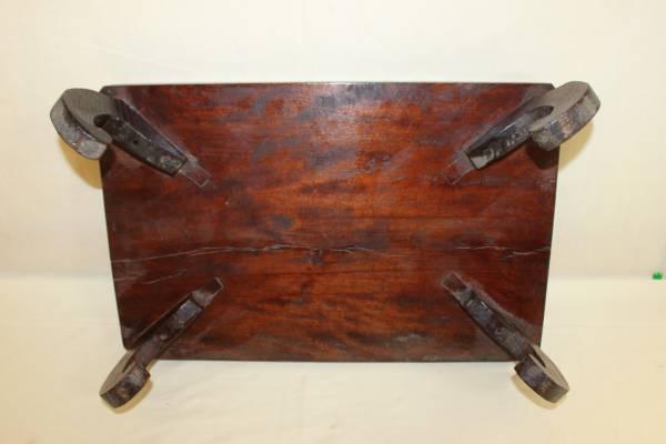 ◆古い無垢材 平卓・花台・香炉台 盆栽盆石等_画像3