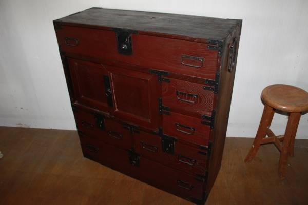 ◆時代物 前欅 味わい深い帳場箪笥 和箪笥古民芸古道具◆_画像3