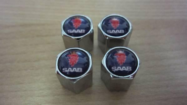 新品即決 エアバルブキャップ 4個セット SAAB サーブ 9-3 9-5 900 9000_画像1