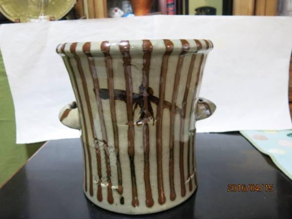 浜田庄司作品 「麦藁手.手焙り(火鉢)」 保証品