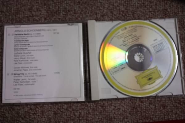 西独アルノルト・シェーンベルク:浄夜/浄められた夜op.4/弦楽三重奏曲op45/ラサール四重奏団/バイオリン/ビオラ/チェロ/CD_画像2