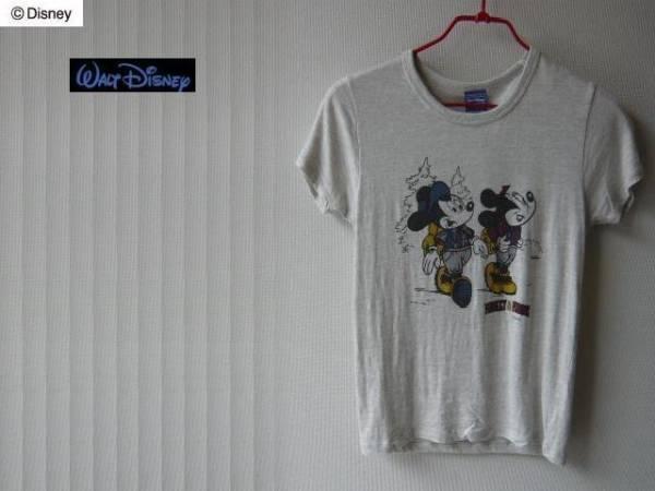 30%OFF ☆ Walt Disney MICKEY & MINNE Tee oa XS 新品_画像1