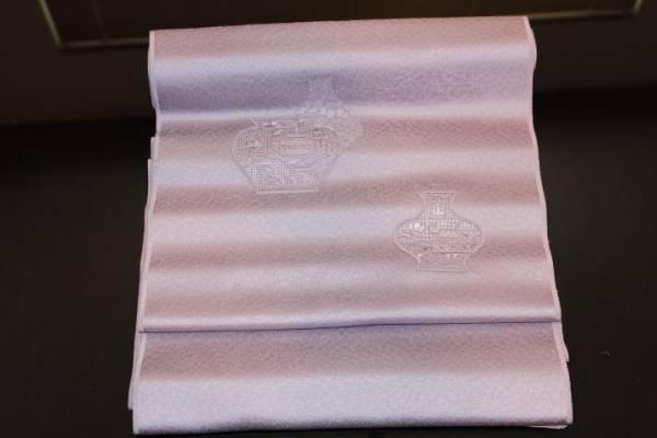 新品 特選 正絹 染め九寸名古屋帯 反物_上品で落ち着きのある名古屋帯です。
