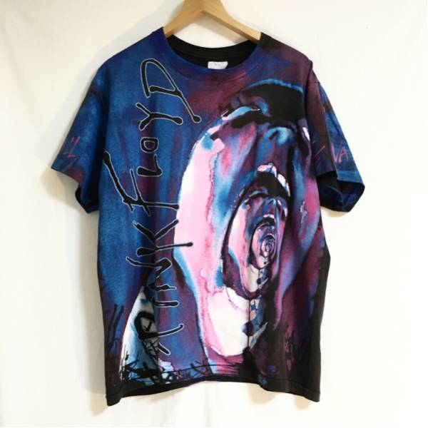 USA 90s ビンテージ ピンクフロイド Tシャツ 両面 総柄 kanye