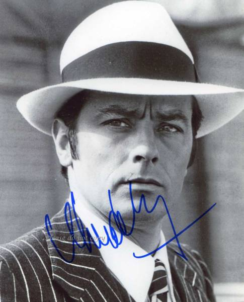 1970年 映画ボルサリーノ アラン・ドロン サイン フォト 他、1枚付