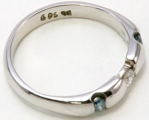 プラチナ ブルーダイヤ リング 5.3g ダイヤ【ar385】_画像3