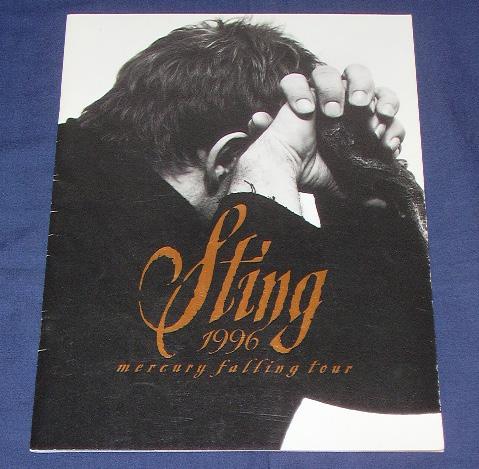 スティング ツアーパンフ「mercury falling tour 1996」 STING