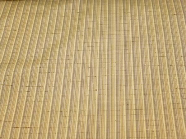 新品正絹反物★山形県・紅花の里工房ぜんまい紬着尺★グレー縞柄です_画像2
